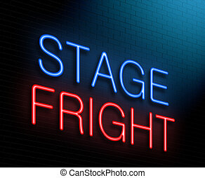 Stage fright concept. - Illustration depicting an...