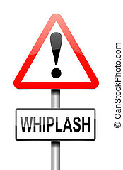 Whiplash concept - Illustration depicting a sign with a...