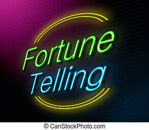 Fortune telling concept - Illustration depicting an...