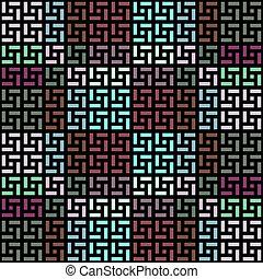 art-deco cubes pattern