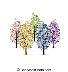 Grove with trees for your design