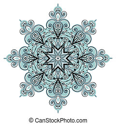 arabesco, ornamento, su, diseño