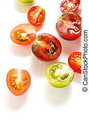 Cherry tomatoes - Multicolored cherry tomatoes picked from...