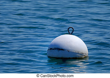 Buoy - White buoy in water