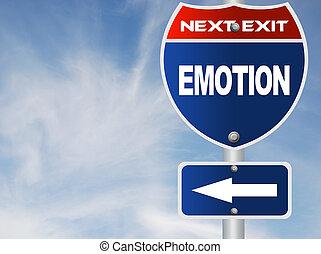 Emotion road sign