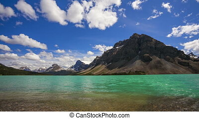 Bow Lake and Crowfoot Mountain