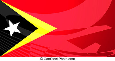 Flag of Timor-Leste air travel illustration - Airplane image...