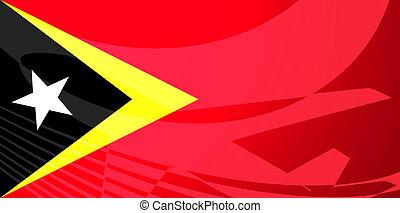 Flag of Timor-Leste air travel illustration - Airplane image...