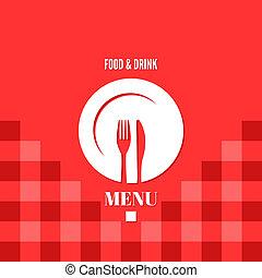 menu design food drink dishes