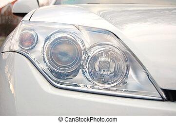 headlight of a car - headlight of a new dynamic sports car