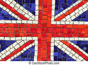 United Kingdom Flag in Mosaic