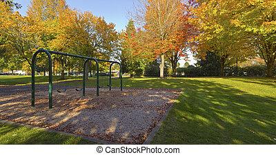 Public park panorama Gresham Oregon. - Public park panorama...