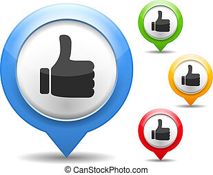 Thumbs Up Icon - Thumbs up icon, vector eps10 illustration
