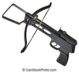Metallic Crossbow Cutout - Metallic Crossbow Isolated with...