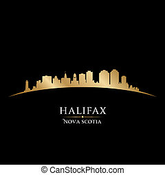 Halifax Nova Scotia Canada city skyline silhouette. Vector...