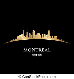 Montreal Quebec Canada city skyline silhouette. Vector...