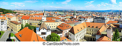 Brno - Panoramic view of Brno city, Czech Republic