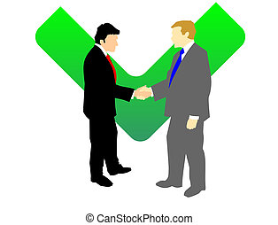 Businessmen Shaking Hands - Two man in suits shaking hands....