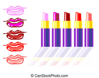 Different lipstick colors