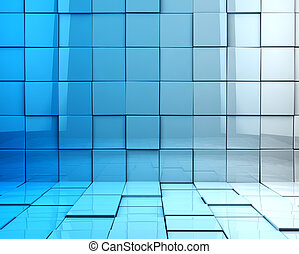 Cubes background - Abstract 3d cubes background in blue...