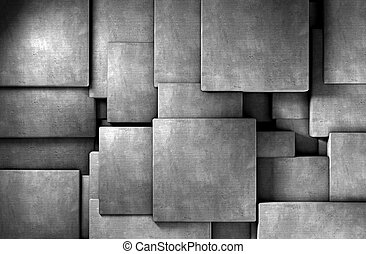 Concrete blocks - 3d abstract background cement  blocks