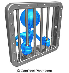 Jail Time - 3D Concept And Presentation Figure