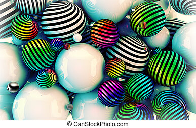 Abstract colored balls
