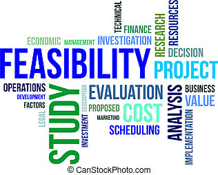 word cloud - feasibility study - A word cloud of feasibility...