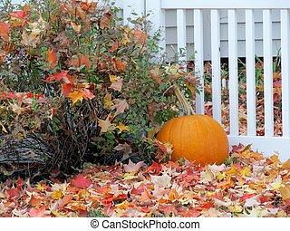 decorative fall scene