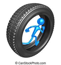 Tire Runner - 3D Concept And Presentation Figure