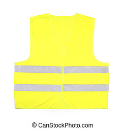 Yellow rescue vest - Yellow recue vest isolated on white...