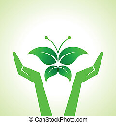 save butterfly concept - Illustration of save butterfly...