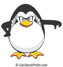 Thumbs down Penguin - A funny symbol that refers to the...