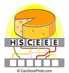 Word game with the cheese