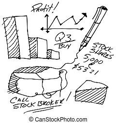 Stock Market Notes - An image of stock market notes.
