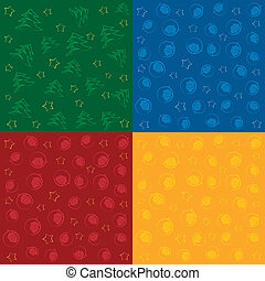 Set of Christmas Seamless Patterns