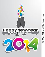 Happy New Year 2014 vector illustration