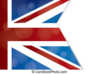 UK Flag - The UK flag with a Bokeh effect