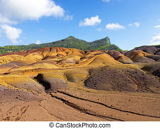 Multi Colored Sand Dunes of Chamarel - Chamarel Land of...