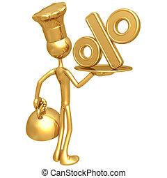 Golden Chef Serving Percentage