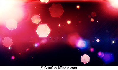 Glowing hexagons, bokeh, cool abstract hexagons, vibrant...