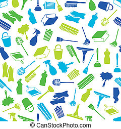 cleaning seamless pattern