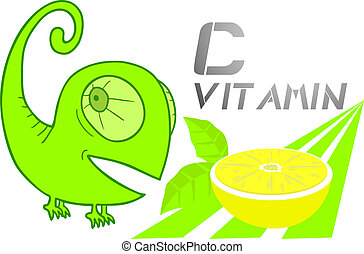 Vitamin C message - Creative design of vitamin c message