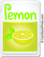 Lemon sticker - Creative design of lemon sticker