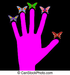 Pink hand - Creative design of pink hand