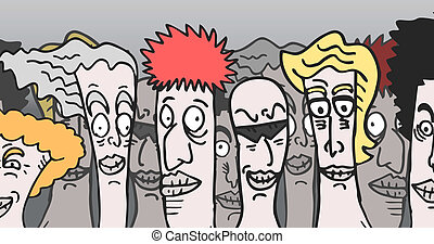 Cartoon people - Creative design of cartoon people