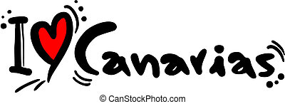 Love canaries - Creative design of love canarias