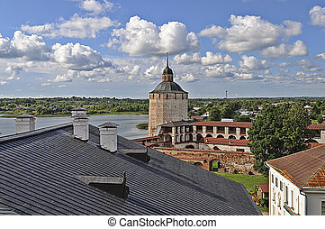 Top view of Kirillo-Belozersky monastery - Belozerskaya...