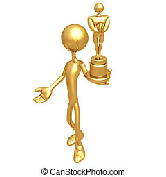 Gold Guy Film Award - 3D Concept And Presentation Figure