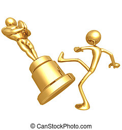 Film Award Loser Kicking Trophy - 3D Concept And...